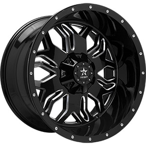 Rolling Big Power 87R Gloss Black W/ Milled Spokes