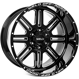 Weld Off-Road W103 Chasm Black Milled