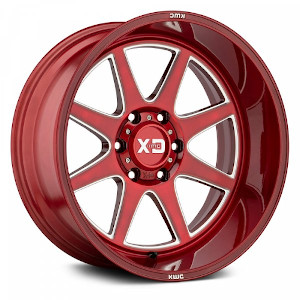 XD Series XD844 Pike Brushed Red W/ Milled Accent