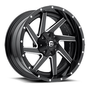 Fuel Renegade D265 Gloss Black W/ Milled Spokes