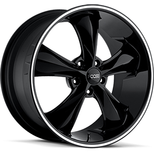 Foose Legend F104 Gloss Black W/ Milled Spokes