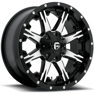 Fuel Nutz D541 Black W/ Machined Face
