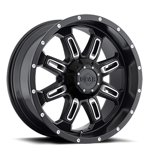 Gear Offroad Dominator 725 Gloss Black W/ Milled Spokes