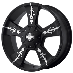 KMC KM668 Vandal Matte Black Machined