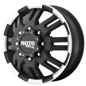 Moto Metal MO963 Matte Black W/ Machined Front