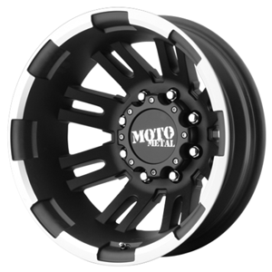 Moto Metal MO963 Matte Black W/ Machined Rear
