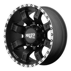 Moto Metal MO968 Satin Black W/ Machined Flange