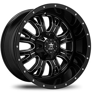 Rolling Big Power 89R Assassin Gloss Black W/ Milled Spokes
