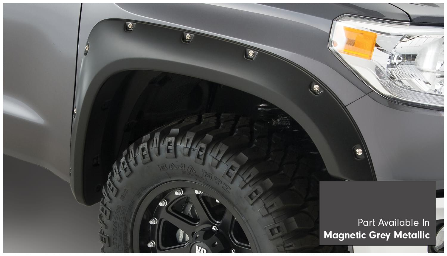 Pocket Style Fender Flare Set Of 4 Magnetic Grey