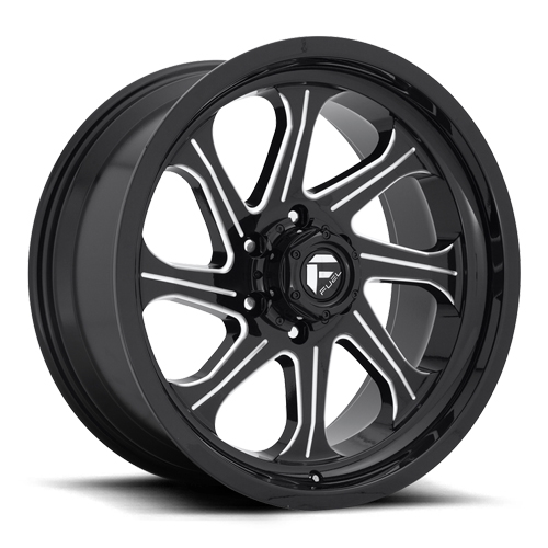 Fuel Offroad Seeker D676 Gloss Black W/ Milled Spokes Photo