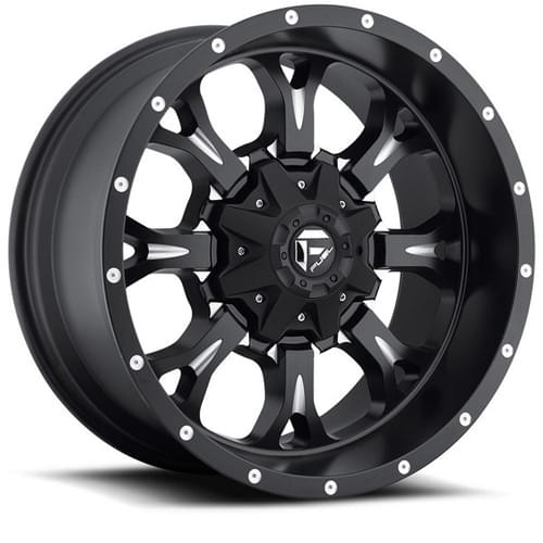 Fuel Offroad Krank D517 Matte Black W/ Milled Spokes Deep Photo