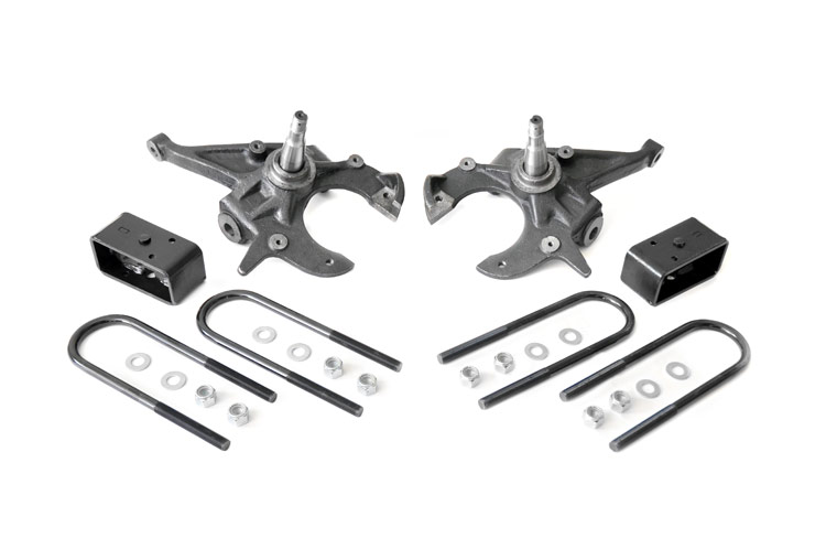 Front 2-inch / Rear 3-inch Spindle Lowering Kit